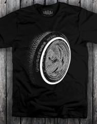 Wheel T Shirt Black