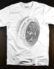 Wheel T Shirt White